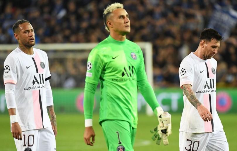 PSG empata com Brugge na estreia do trio Messi, Neymar e Mbappé