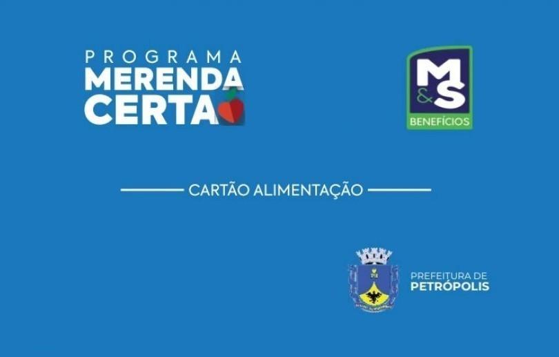Cartão do programa Merenda Certa será recarregado na quinta-feira (20)