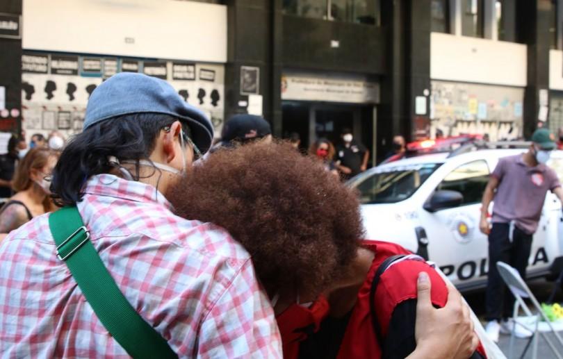 Professores municipais fazem manifestação no centro de São Paulo