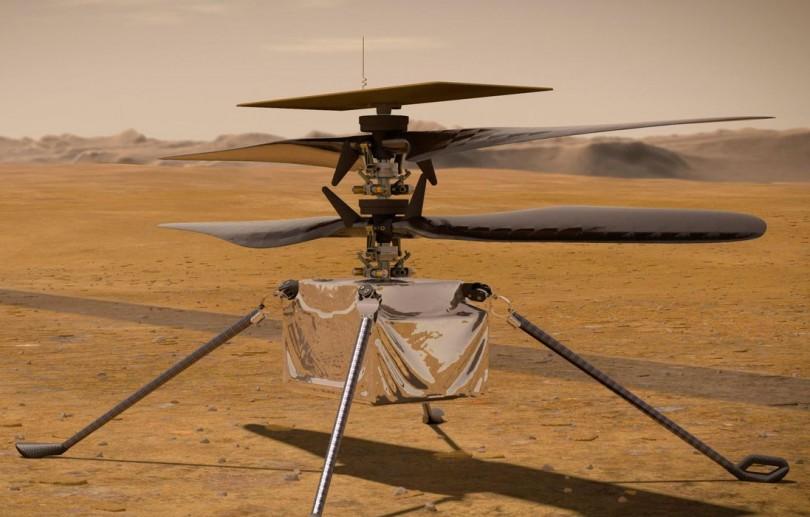 Helicóptero Ingenuity, da Nasa, faz voo teste com êxito em Marte
